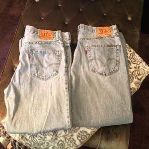 """Levi's 550 Jeans (2pr) sz 34""""32"""